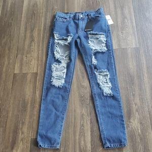 NWT Fashion Nova Distress Jeans